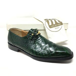 Mauri Oxfords Shoes Size 15 Green Full Alligator